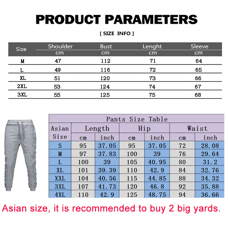 Two Piece Tracksuit Set for Men, Sportswear for Men, Hooded Jacket and Pants, Tracksuit, Men's Clothing,  Plus Size S-3XL 6