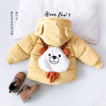 Winter Clothes Baby Girl Cartoon Down Jacket Toddler Girls Thicken Cotton-padded Coat Newborn Kids Hooded Casual Thermal Parkas