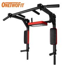 OneTwoFit-Barra de Dominadas montada en la Pared, equipo de Fitness para gimnasio en casa, deporte interior, Barra Dominadas