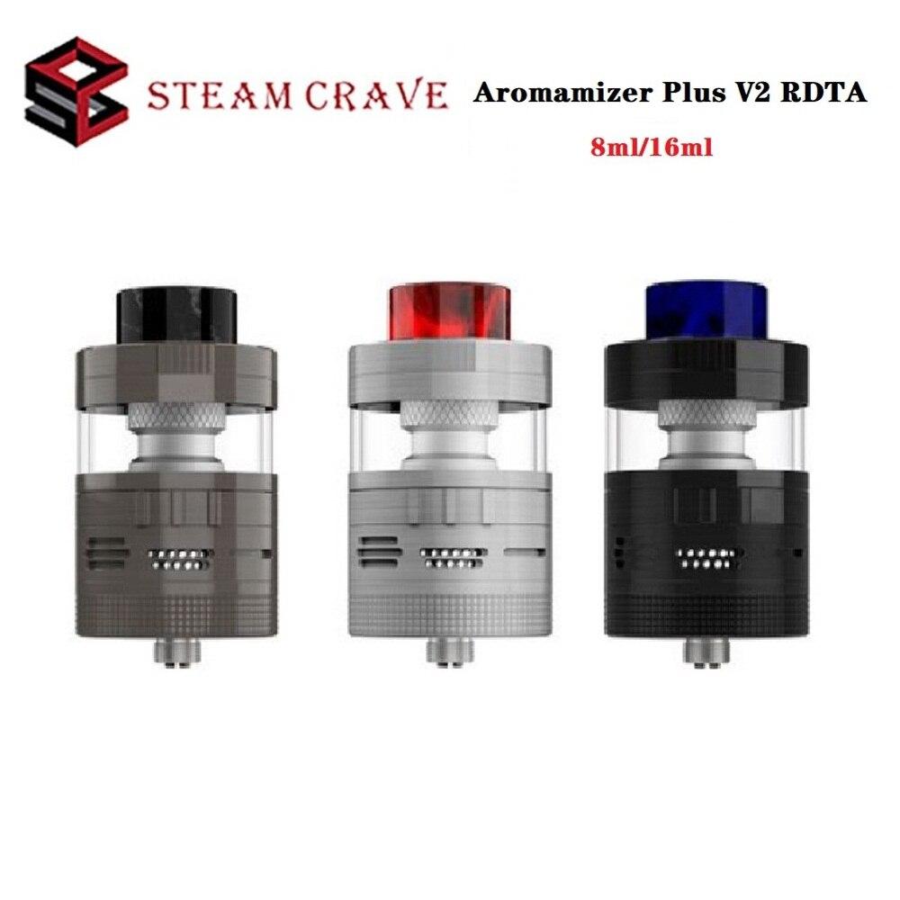 Original Steam Crave Aromamizer Plus V2 RDTA 8ml / 16ml Capacity Atomizer With Top Fill Airflow 510 Thread Vape Tank VS Zeus X