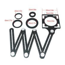 Плитка отверстие локатор складной линейка алюминиевый сплав шесть раз деятельности четыре складные линейки четыре стороны параллельные мульти-угол