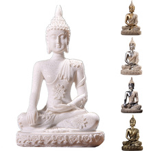 11 Style Miniature Buddha Statue Nature Sandstone Fengshui Thailand Buddha Sculpture Hindu Figurine Home Decorative Ornament 15