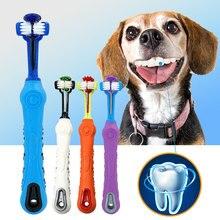 Soft dog toothbrush Pet cat  three sides rubber bad breath Tartar teeth tool pet accessories