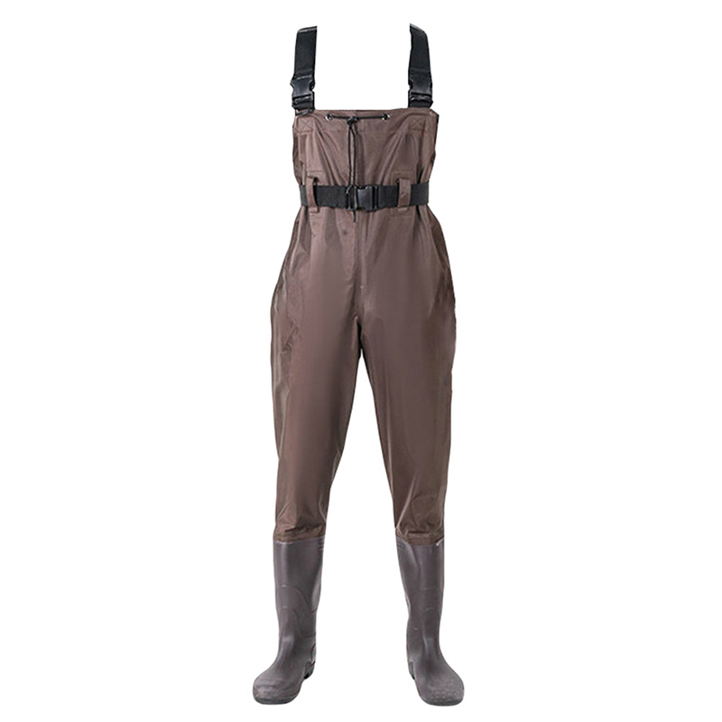 Men's Women  Camouflage Comfortable Pant Waterproof Bootfoot Fly Fishing Chest Rubber Waders Wading Boots Suit.