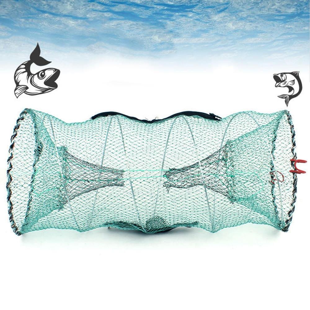 5X Folding Fish TrapFishing NetCollapsible Cast Mesh Landing Bait Net