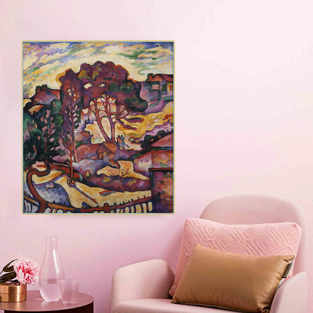 Citon Canvas Art Oil painting Georges BraqueThe large treesArtwork Picture Modern Wall decor Home Living room Decoration