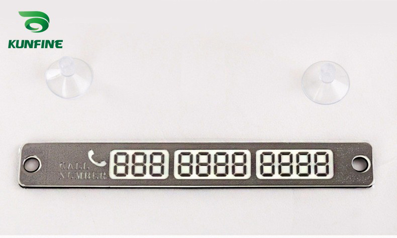 Phone Number Card Plate sliver