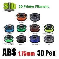 11 видов цветов Премиум ABS 1,75 мм нить 3D принтер материалы для печати рулон 1 кг подходит для большинства 3D принтеров