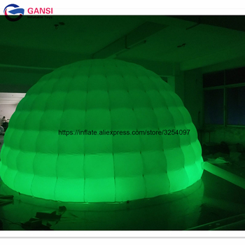 цена на Free shipping door to door wedding party lighting inflatable tent advertising led inflatable dome tent for outdoor event