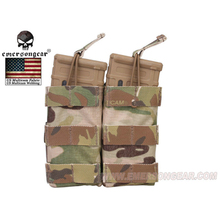 emersongear Tactical Double 556 Mag Pouch M4 AR AK FAMAS Modular Open Top  Molle Webbing Paintball Airsoft