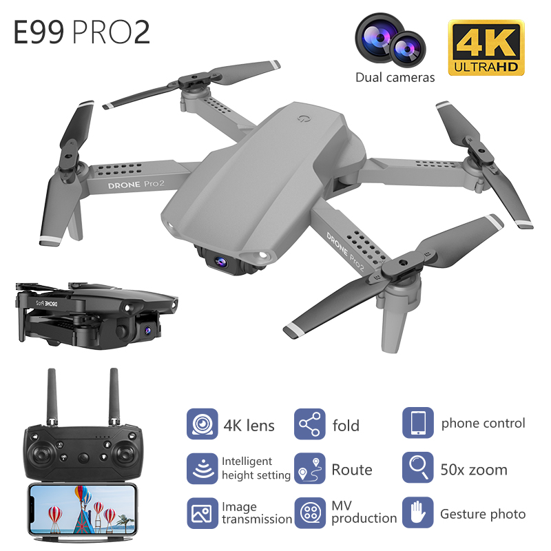 LSKJ E99 Pro2 RC Mini Drone 4K HD Dual Camera WIFI FPV Professional Aerial Photography Helicopter Foldable Quadcopter Drone Toys 2