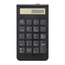 купить 19 Keys Usb Number Keyboard 2.4G Digital Display Rechargeable Wireless Numeric Smart Keypad Office Supplies дешево