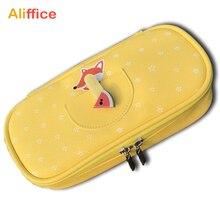 Kalem kutusu yüksek kapasiteli deri malzeme çantası masaüstü düzenleyici İşlevli kozmetik makyaj çantası okul malzemeleri