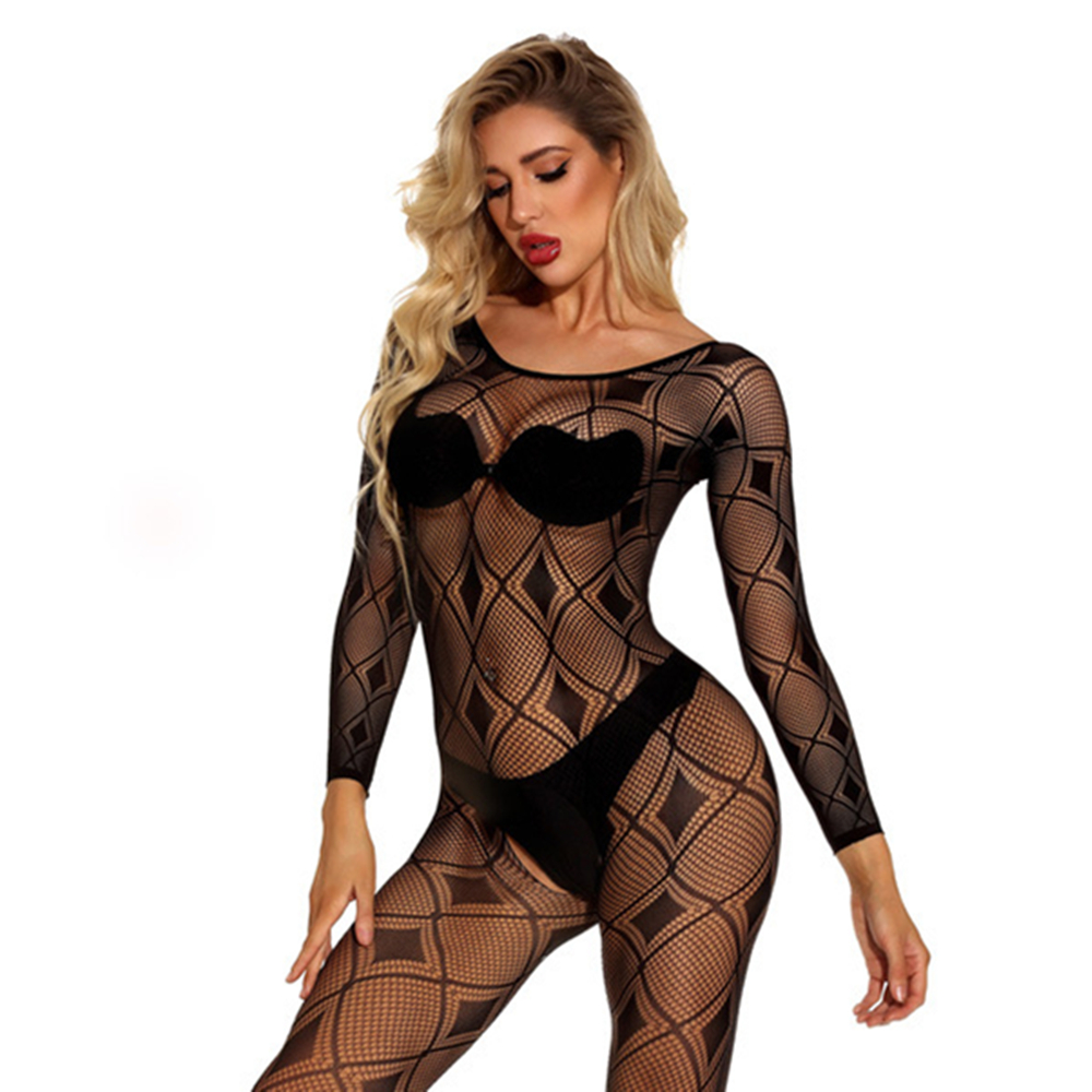 Women Sexy Lingerie Erotic Crotchless Bodystocking Bodysuit  Babydoll Dress Female Porn Chemise Underwear Intimates Mesh Costume