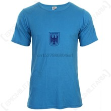 Originele Duitse Leger Blauw T-shirt-Militaire Sport Overschot Bundeswehr Top(China)