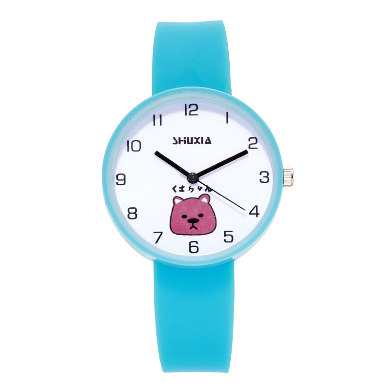 Lovely Jelly Animals Bear Children Watch Candy Color Trend Minimalism Female Students