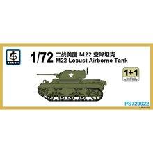 S Modell PS720022 1/72 M22 Locust Airborne Tank Skala modell Kit