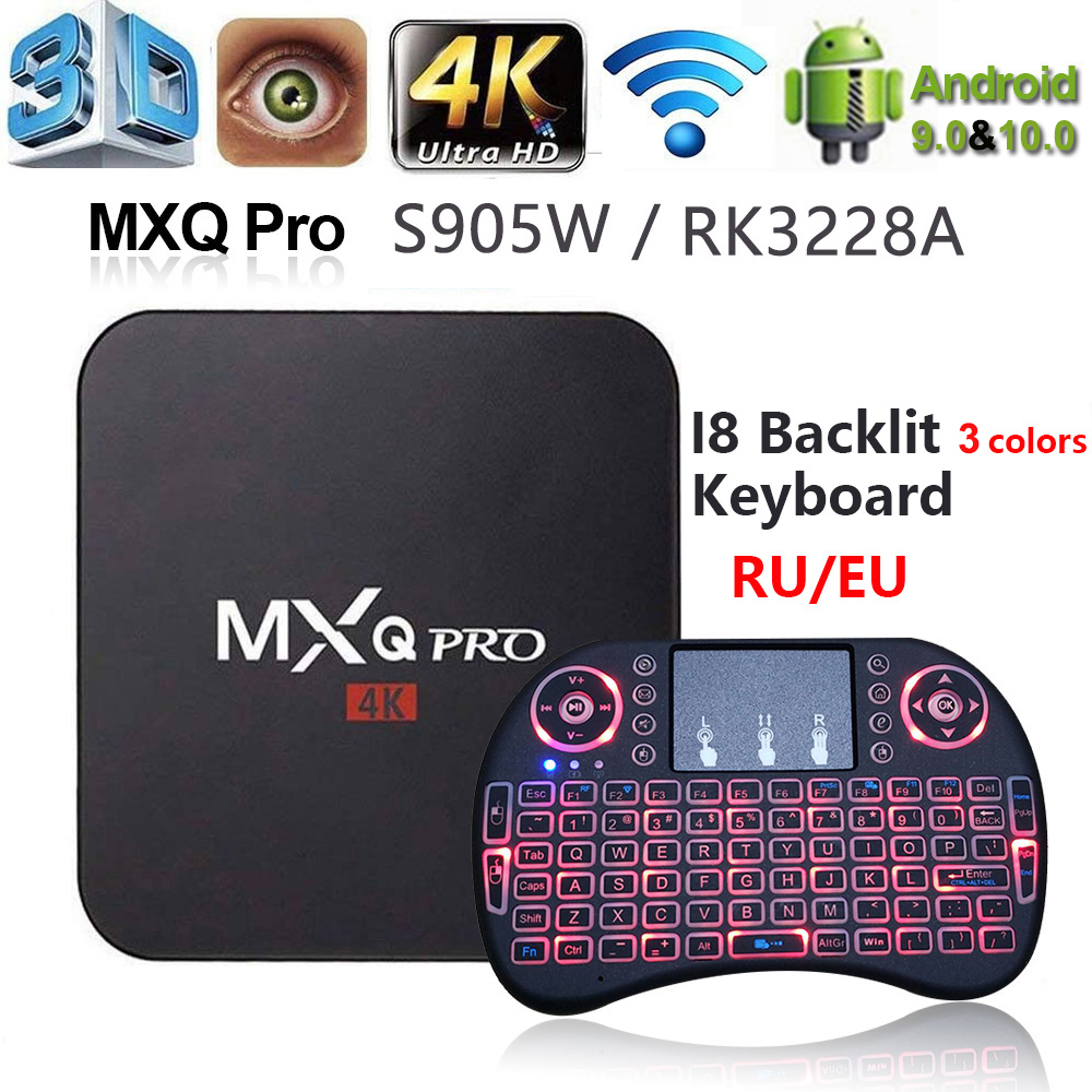 ТВ-приставка MXQ PRO Smart 4K, Android 10, RK3228, Amlogic S905W, 2 + 16 ГБ, HD, 2,4 ГГц, Wi-Fi