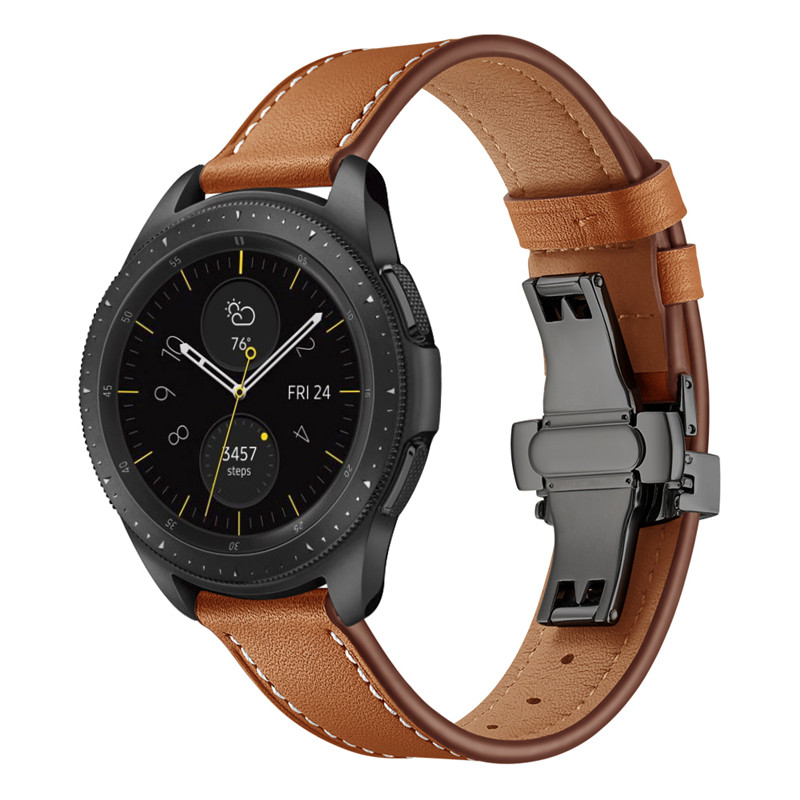Watchband for samsung galaxy watch active2 40mm band 20mm Genuine Leather Strap for galaxy watch active 2 44mm wristbands