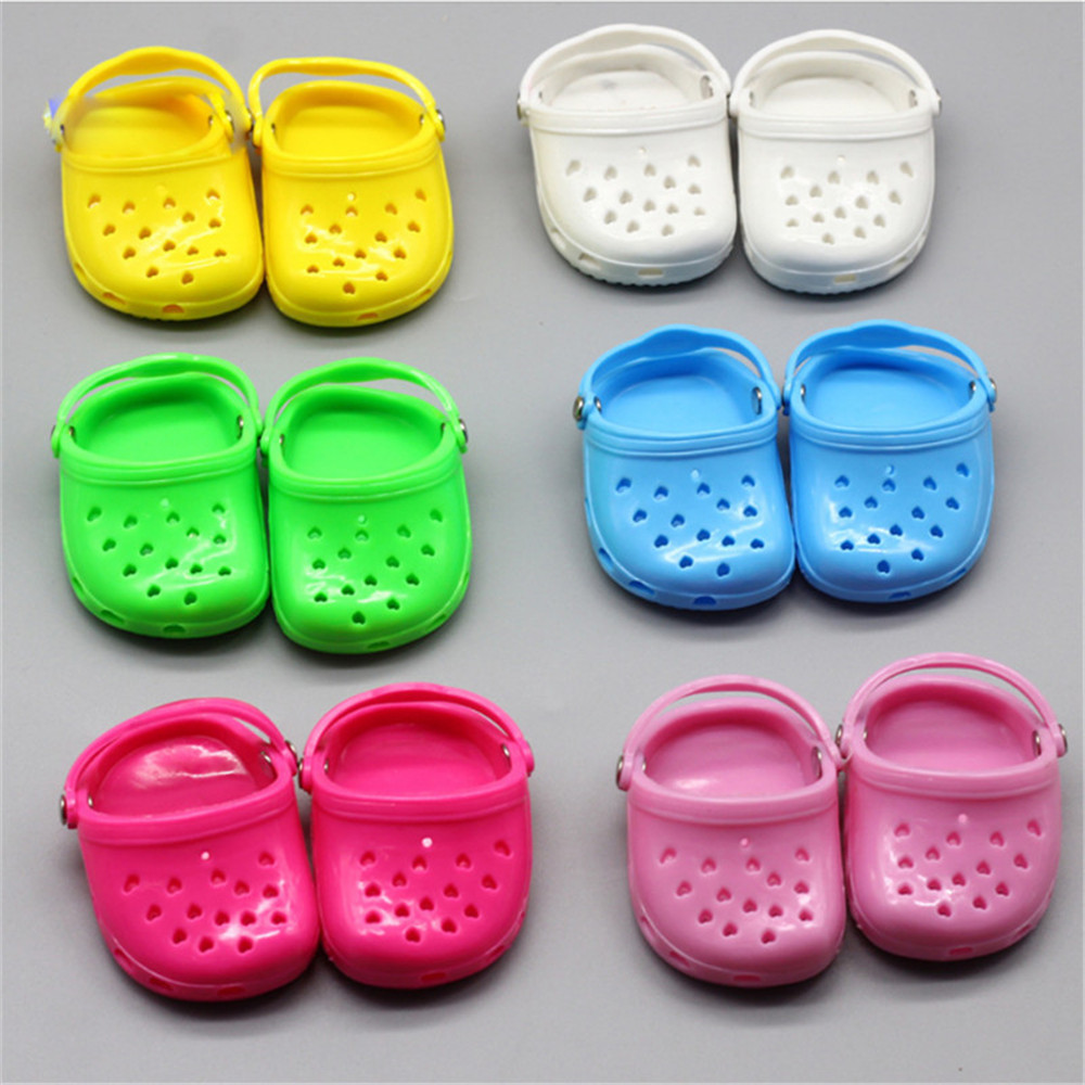 43cm Baby Dolls Shoes Newborn Casual Sandals Beach Shoes Moccasins Baby Toys Fit 18 Inch Girls Doll Sandalia Infantil Menina