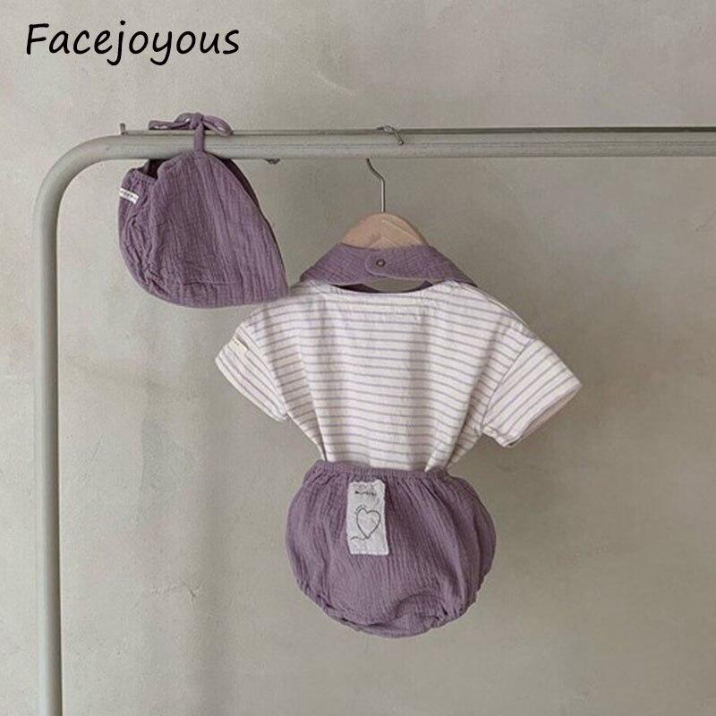 Newborn Baby Bloomers Infants Pp Pants Summer Clothing Baby Shorts Toddle Girls Boys Solid Ruched Pants Shorts+hat+bib 3pcs Set