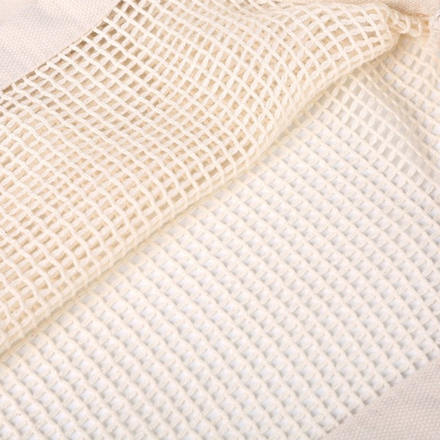 Eco friendly Vegetable Storage Bag reusable Cotton Net Bag For Fruit Vegetable Cotton Shopping Bags With Long Handle 6