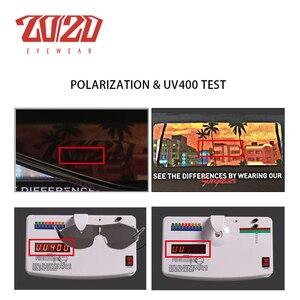 Image 5 - 20/20 New Arrival Vintage Brand Alloy Polarized Sunglasses Men Gradient Oversize Lens For Women Design AK17157
