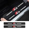 Порог машины защита 3D 4 шт. углеродное волокно украшение автомобиля для Audi A3 8P 8V 8V A4 B8 B6 A6 A7 C6 C5 Q2 Q3 Q5 Q7 Q8 TT TTS
