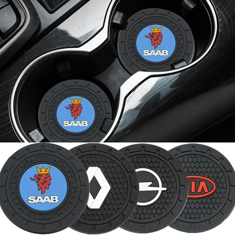 Alfombrilla antideslizante para posavasos de coche, accesorios para BMW Serie 3, 5, serie 7, e46, e90, e60, Z4, X1, X2, X3, X4, X5, X6, 2 uds.