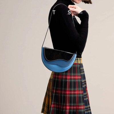 Bag Women's 2020 New Style Crossbody Korean-style Hand Shoulder Vintage Bag Simple Western Style Lady Shoulder Bag Saddle Bag