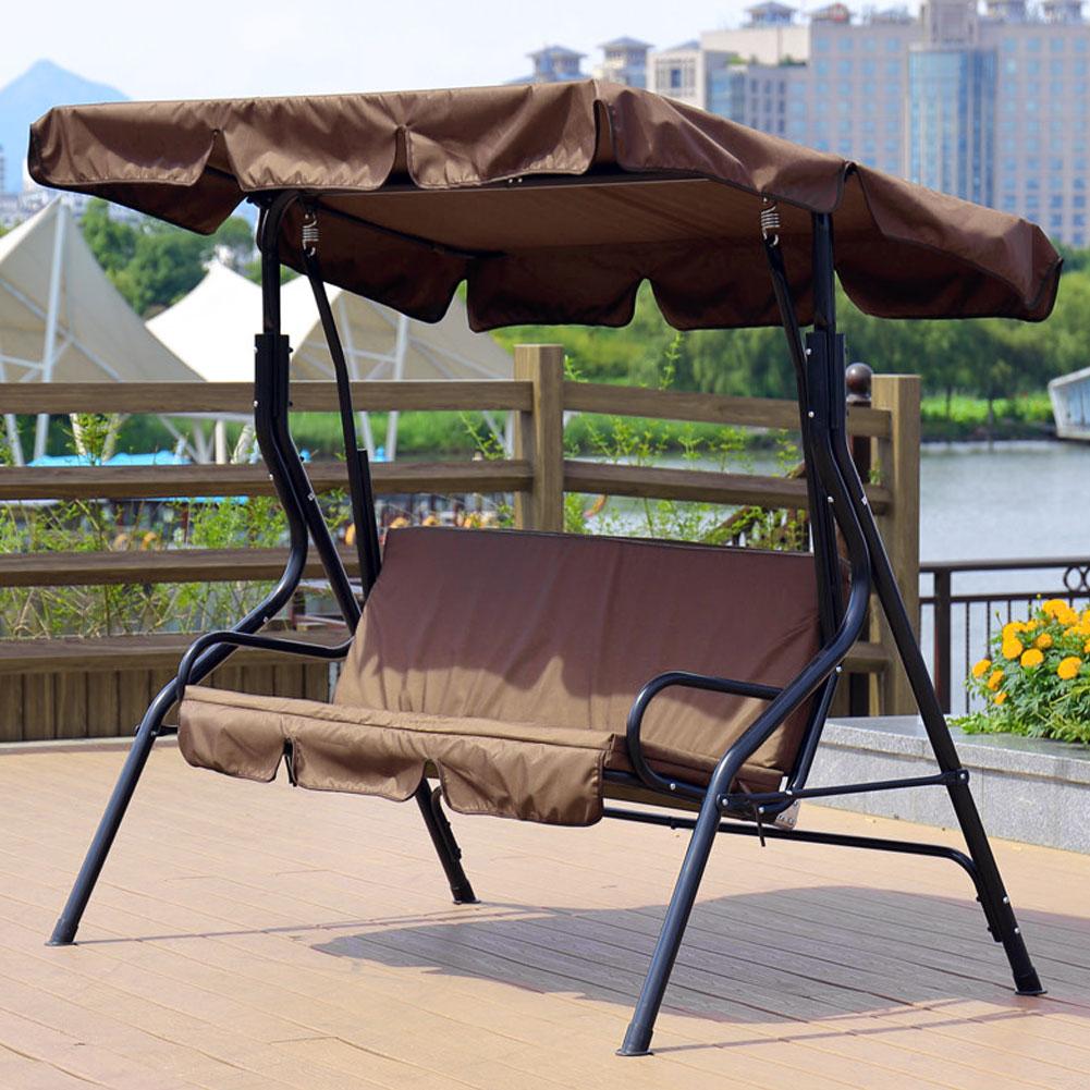 Courtyard Garden Swing Hammock 3-Seat Cover Waterproof Outdoor Garden Courtyard Protection Swing Seat Cover Accessories