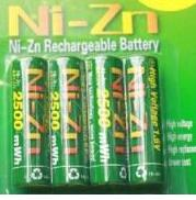 Free ship 4pcs/lot NIZN <font><b>1.6V</b></font> <font><b>AA</b></font> 2500mwh Rechargeable <font><b>Battery</b></font> ni-zn <font><b>battery</b></font> image