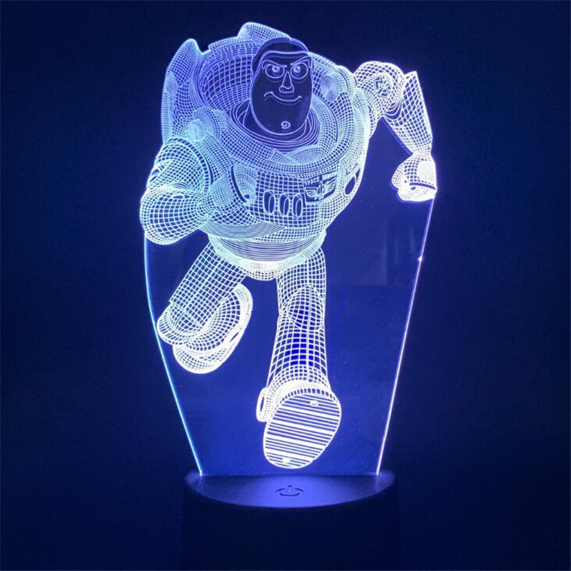 Bedroom Decor Lampe Luminaria Toy-Story 3d-Night-Light Woody Baby Gifts Buzz Lightyear