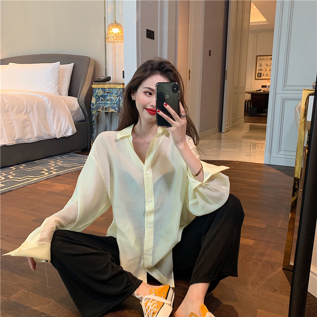 New  Blouse  Women Shirt   Long-sleeved thin section Tops   Ladies BL055 2