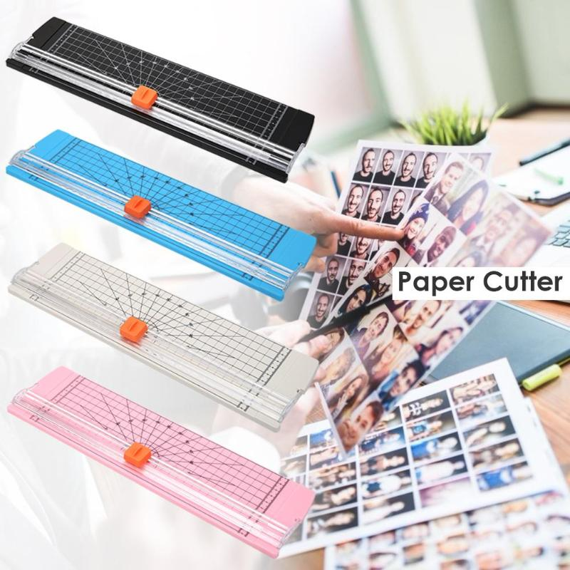 Portable Paper Cutter Plastic Base Office Home Stationery Knife A5/A4 Paper Card Cutting Blade Art Trimmer Crafts Tools