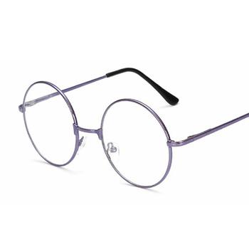 Ramka do okularów okrągłe okulary ramki przezroczyste soczewki kobiety markowe okulary oprawki do okularów korekcyjnych krótkowzroczność nerdy czarne okulary ramki tanie i dobre opinie AKLFHNC Unisex Stop Stałe