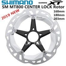 SHIMANO Disco de bloqueo central para bicicletas de montaña, herramienta con tecnología de punto de hielo, DEORE XT, SM RT81, MT800, rotor, 160 mm, 180mm y 203mm