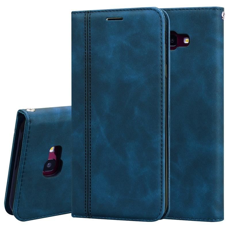 Для samsung Galaxy J4 2018 чехол кожаный бумажник флип-магнит чехол для телефона для samsung J4 Plus 2018 J4 Plus J4+ J4 J400F J415F крышка