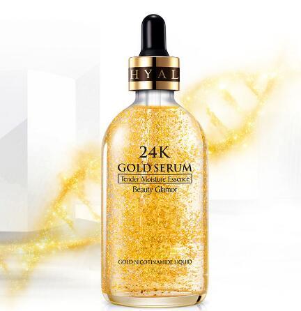 110ML 24K Gold Tense Moisture Essence Pure Hyaluronic Acid Serum Anti-wrinkle Gold Nicotinamide Liquid Skin Care Essence