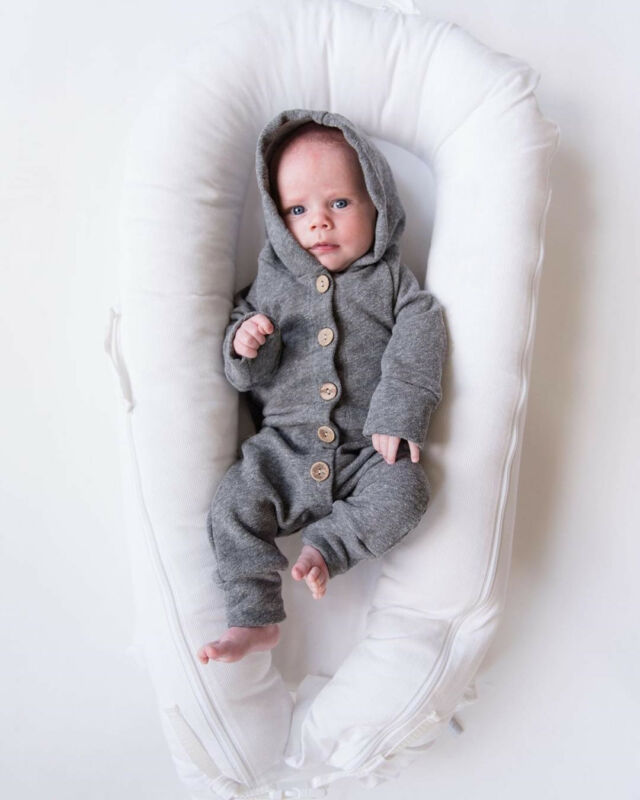 Newborn Baby Boy Girl 0-24M Long Sleeve Romper Jumpsuit Infant Clothes Outfit