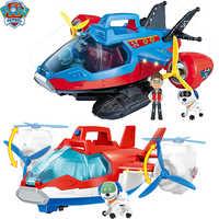Juguete grande Paw Patrol música rescate avión Juguetes Patrulla Canina Robot perro ABS figura de acción regalos de cumpleaños para niño y niña
