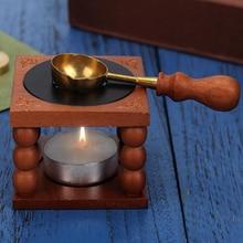 Восковая печать в стиле ретро, печка, кастрюля, деревянная ручка, для печати, декоративный восковой штамп, подарок для рукоделия