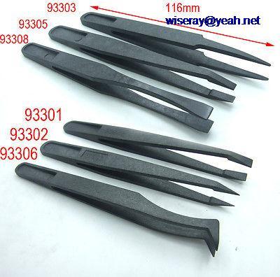 DHL/EMS Samples 300 PCS Repair Tool Anti-static Plastic Tweezers For Mobile Phone Tablet Monitor -A8