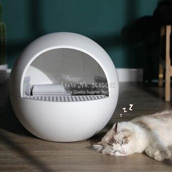 Caja automática cerrada para desechos de gatos, arena de autolimpieza grande, Kit de entrenamiento para gatos, Inodoro, garrafa Cerrado, producto para mascotas