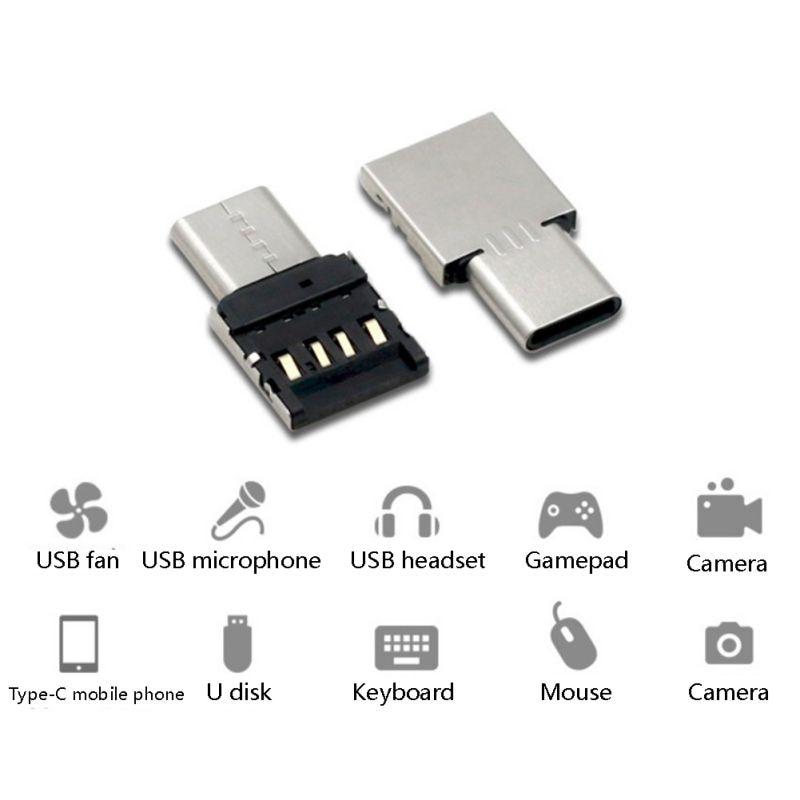 Купить с кэшбэком Aluminium Body USB Type C To USB 3.0 Adapter OTG Function Type-C USB Converter Type-C Male to USB Female