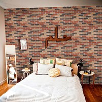 Waterproof Wallpaper 3D PVC Wood Grain Wall Stickers Paper Brick Stone Rustic Effect Self adhesive Home Decoration Sticker Room