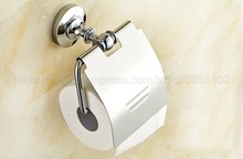 Polished Chrome Toilet Paper Holder Brass Bathroom Roll Accessory Wall Mount Tissue zba804