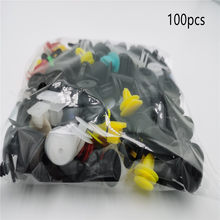 100pcs Mixed Clips For Mercedes Benz A180 A200 A260 W203 W210 W211 AMG W204