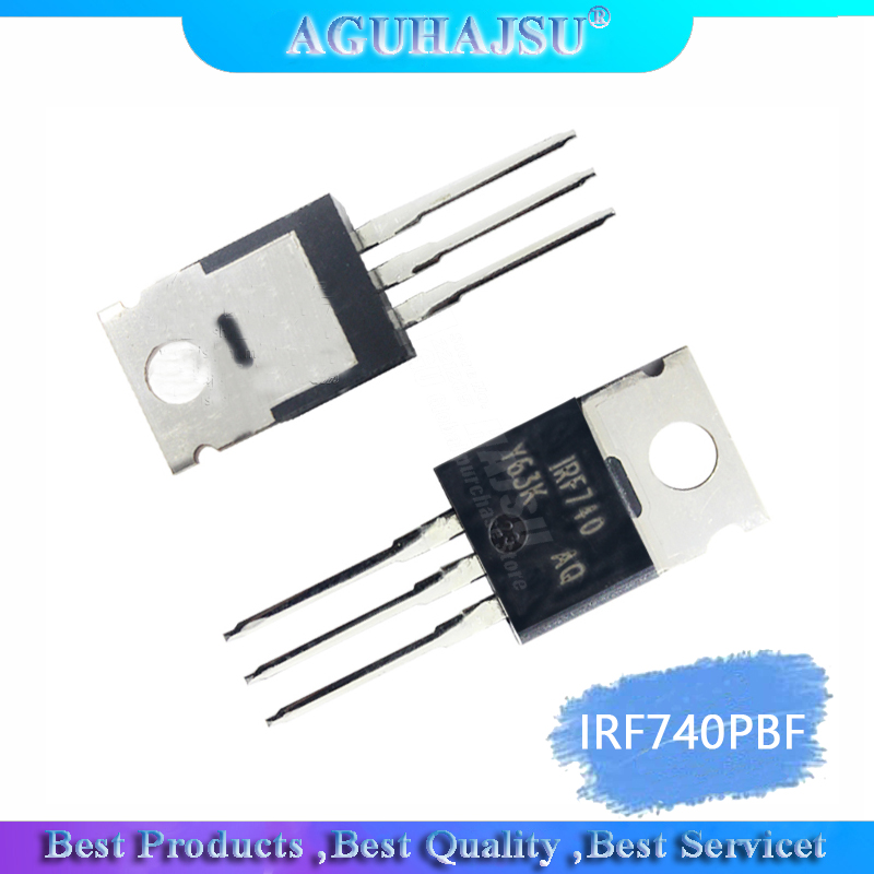 1PCS  IRF740PBF TO220 IRF740 TO-220 IRF740P 400V/10A/0.55 Ohm N-channel
