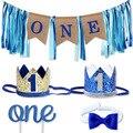 Подарок на один год рождения, шапка, галстук, первый день рождения, воздушный шар для детей, баннер на день рождения, 1 год, первая детская веч...